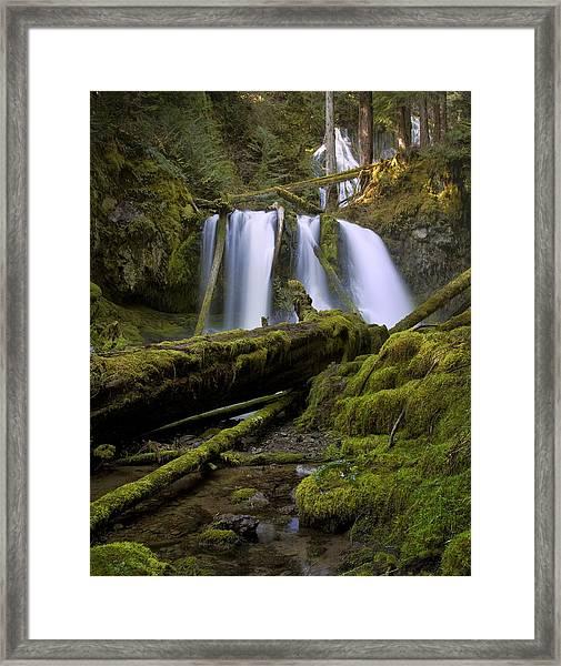 Lower Panther Creek Falls Framed Print