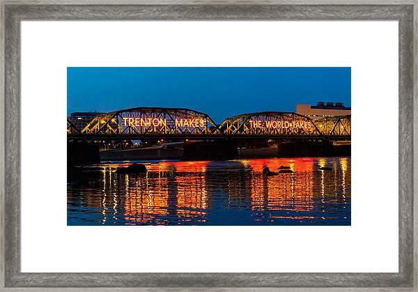Lower Trenton Bridge Framed Print
