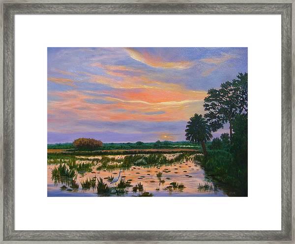 Loxahatchee Sunset Framed Print