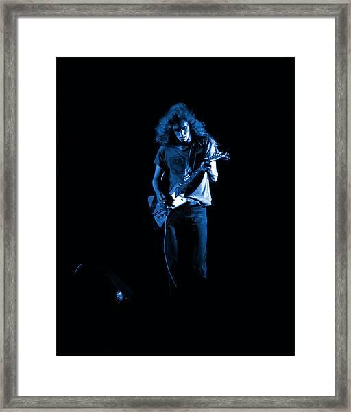Ls Spo #25 In Blue Framed Print
