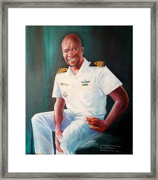Lt Gabriel Mothobi Framed Print