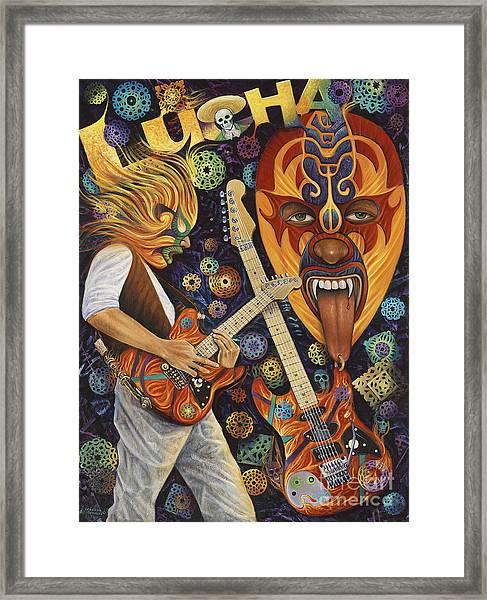 Lucha Rock Framed Print