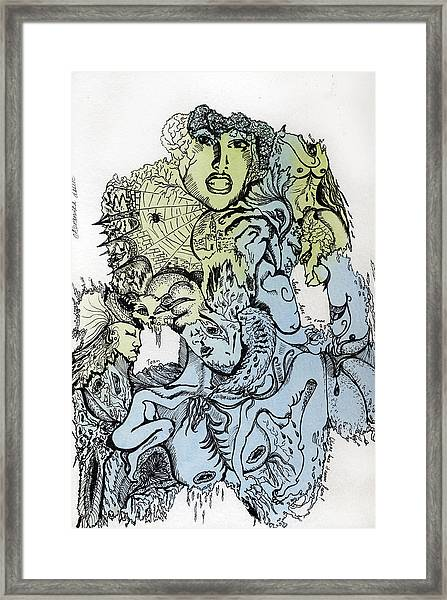 Lucid Mind - 2 Framed Print