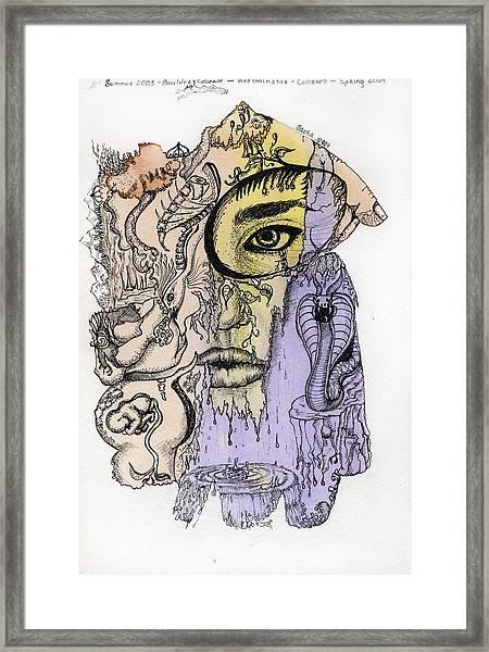 Lucid Mind - 5 Framed Print