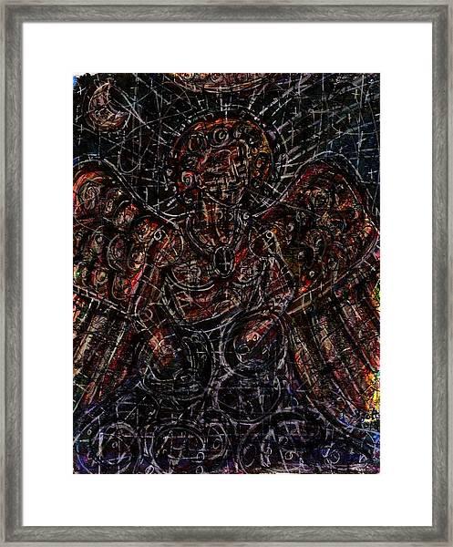 Lucifer Defies God Framed Print