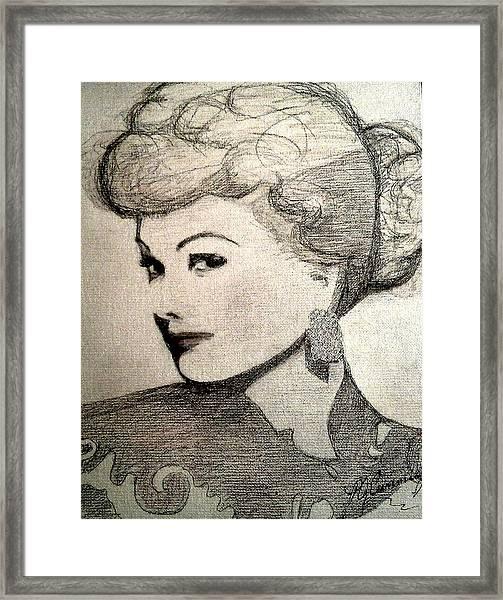 Lucille Ball Framed Print