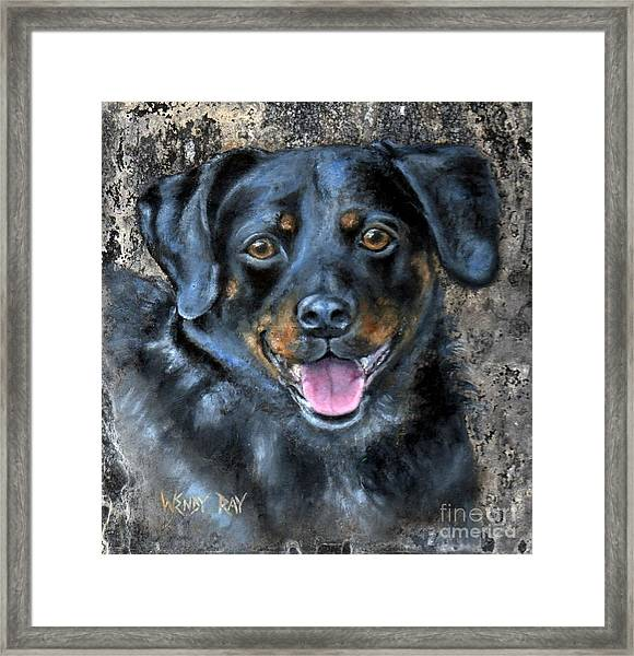 Framed Print featuring the painting Lucy by Wendy Ray