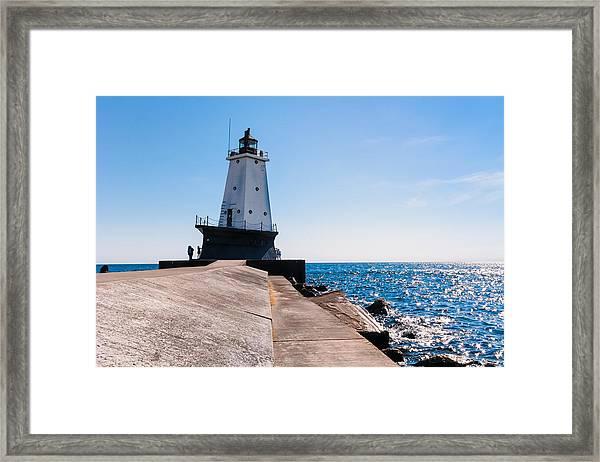 Ludington Lighthouse Framed Print