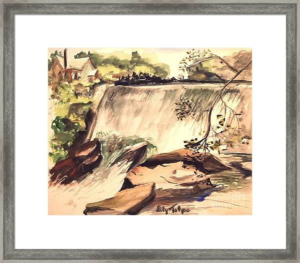 Ludington Michigan Spillway Framed Print