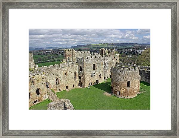 Ludlow Castle Chapel And Great Hall Framed Print