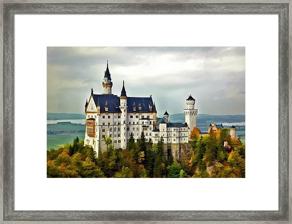 Neuschwanstein Castle In Bavaria Germany Framed Print