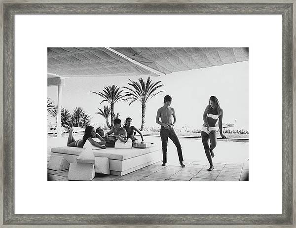 Luis And Alvaro Figuerroa With Friends Framed Print