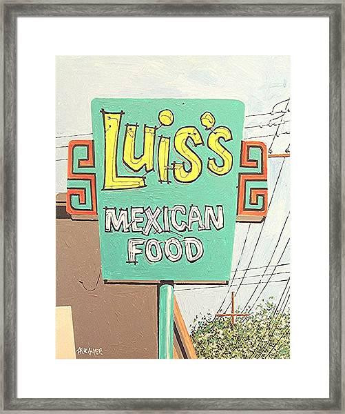 Luis's Framed Print by Paul Guyer