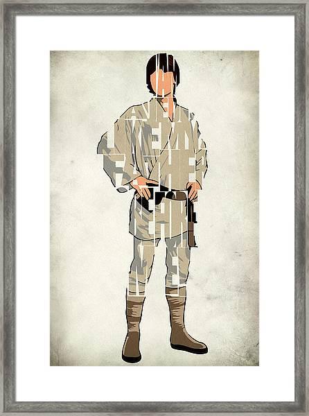 Luke Skywalker - Mark Hamill  Framed Print