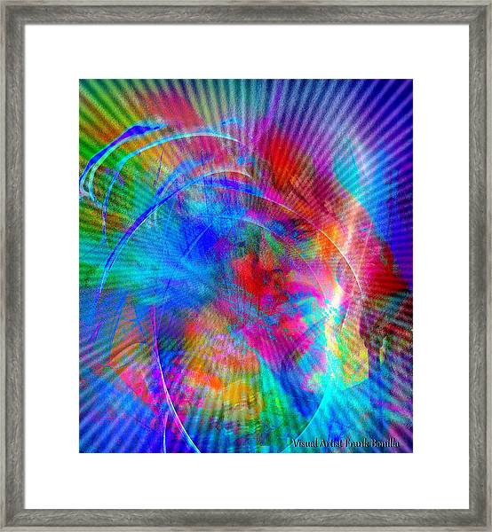 Framed Print featuring the digital art Luke by Visual Artist Frank Bonilla