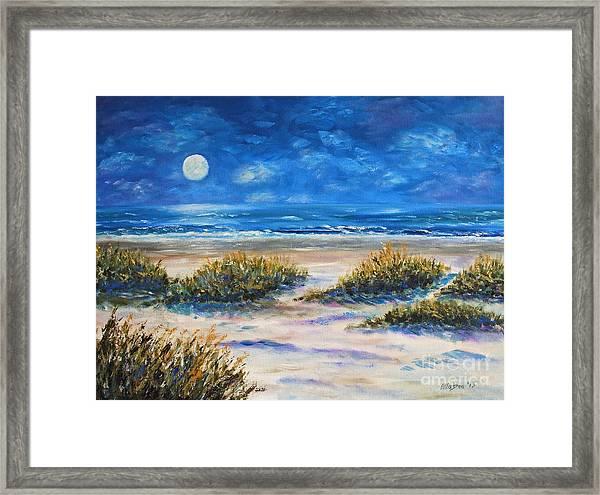 Lunar Beach Framed Print