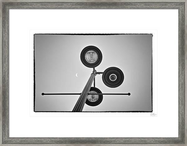 Lunar Lamp - Art Unexpected Framed Print