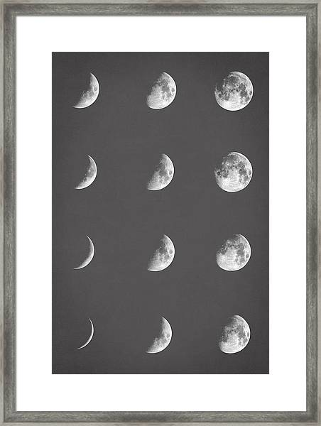 Lunar Phases Framed Print