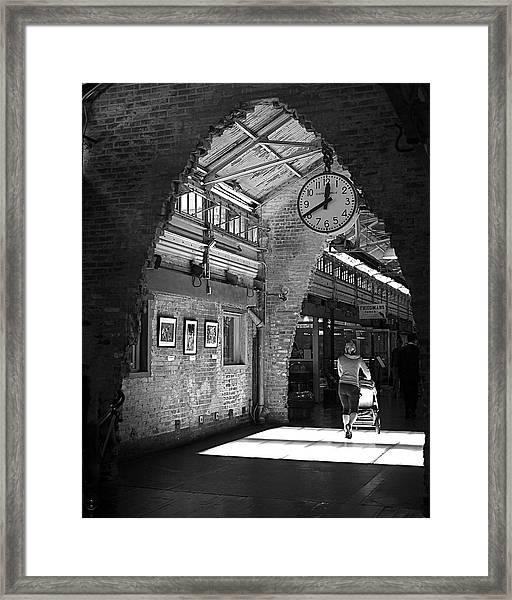 Lunchtime At Chelsea Market Framed Print