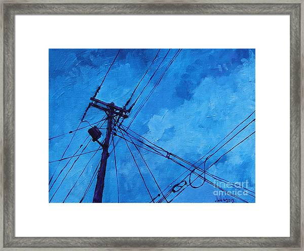 Lunchtime Telephone Pole Framed Print