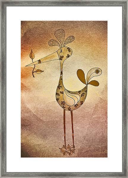 Lutgarde's Bird - 05t2c Framed Print