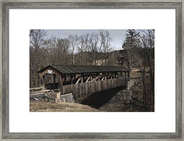 Luther's Mill Covered Bridge Framed Print