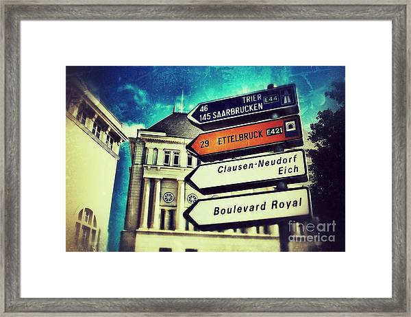 Luxembourg City Framed Print