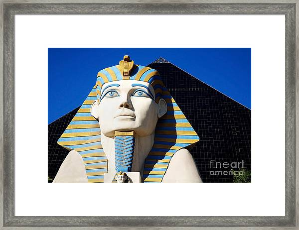 Luxor Las Vegas Sphinx Framed Print