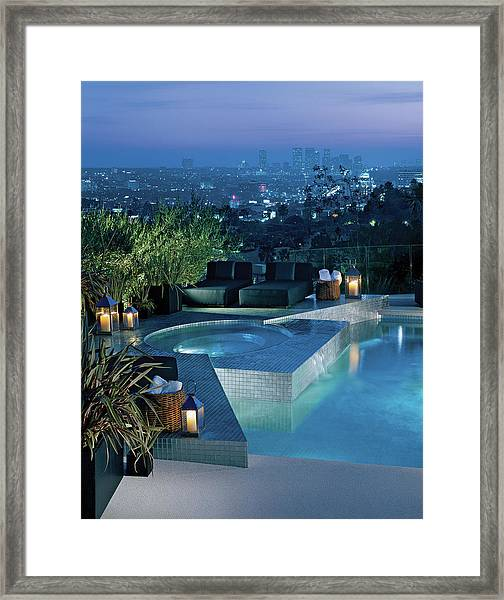 Luxurious Swimming Pool Framed Print