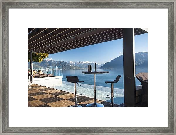 Luxury Swiss View Framed Print