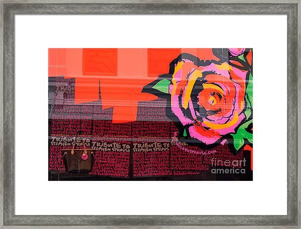 Lv Bag Framed Print