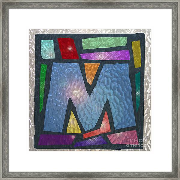 M As Stained Glass Framed Print
