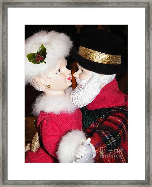 Ma And Pa Claus Framed Print