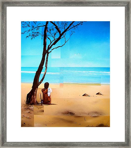 Ma Plage Privee Framed Print by Laurend Doumba