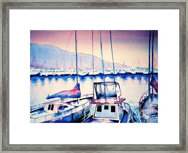 Maalaea Harbor Framed Print