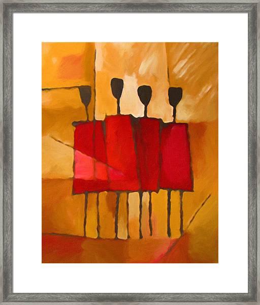 Maasai Group Framed Print