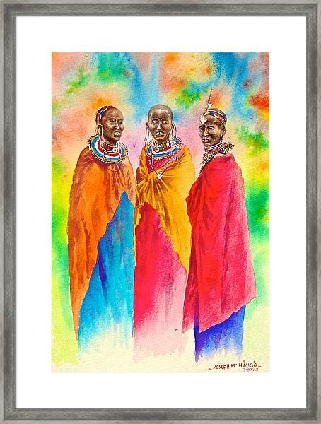 Maasai Life 14 Framed Print