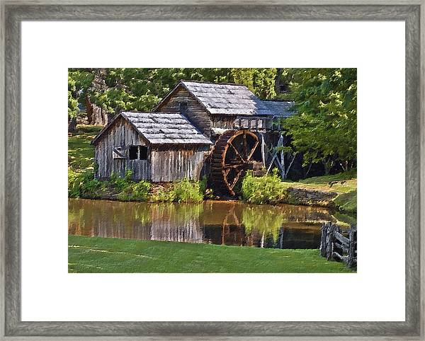 Mabry Mill In Summer Framed Print