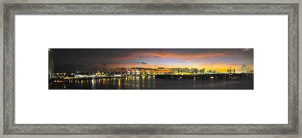 Macarthur Causeway Bridge Framed Print