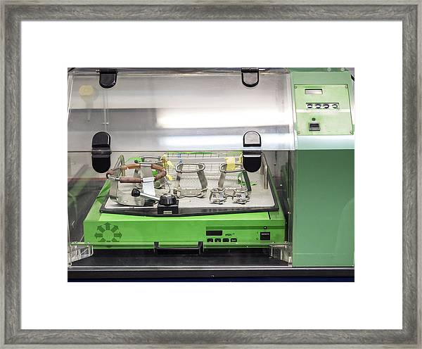 Machine For Removing Liquids, Heating, Incubation In A Laboratory Of Molecular Biology. Spain Framed Print by Jose A. Bernat Bacete