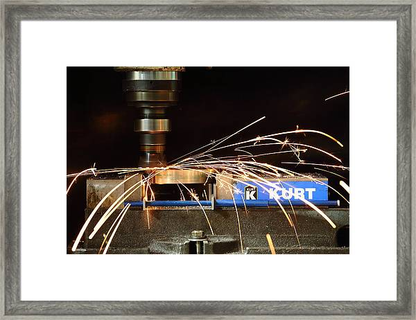 Machining Framed Print