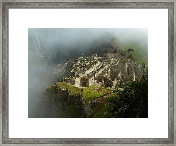 Machu Picchu Peru 2 Framed Print