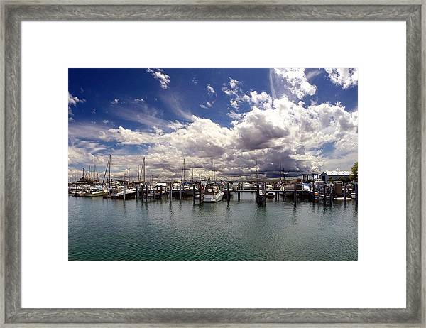 Mackinaw City Marina Framed Print