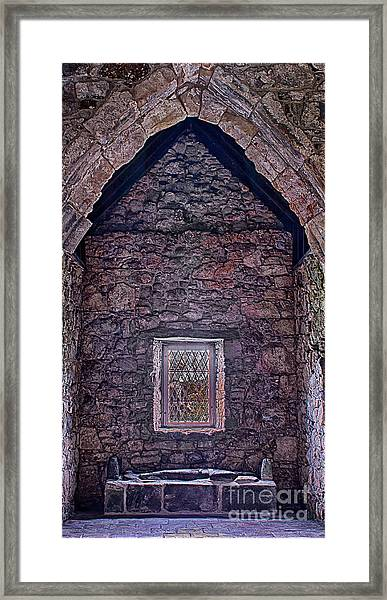 Macleod Tomb St Clements Rodel Framed Print by George Hodlin