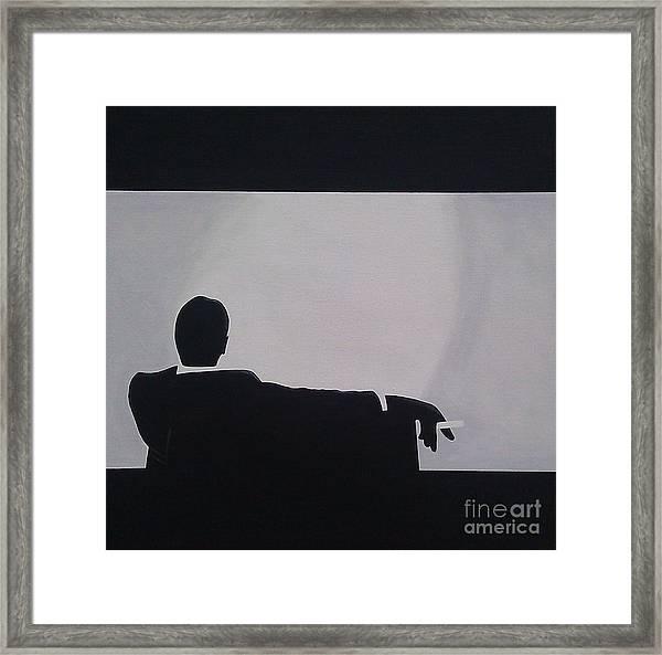 Mad Men In Silhouette Framed Print