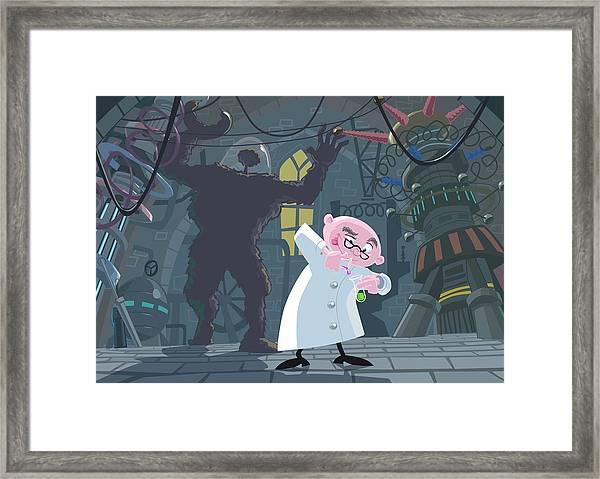 Mad Professor Experiment Framed Print