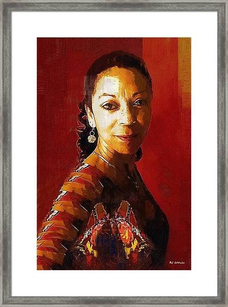 Madame Exotic Framed Print