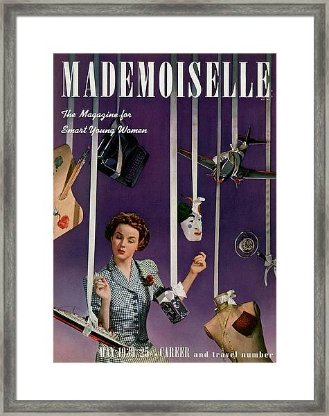 Mademoiselle Cover Featuring A Model Framed Print