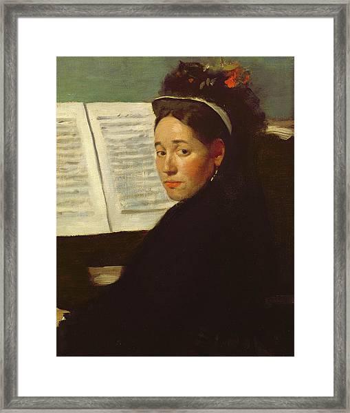 Mademoiselle Marie Dihau At The Piano Framed Print