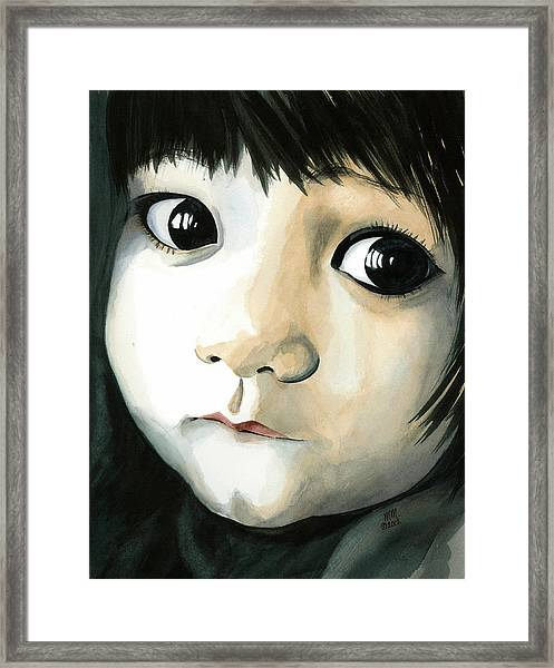 Madi's Eyes Framed Print